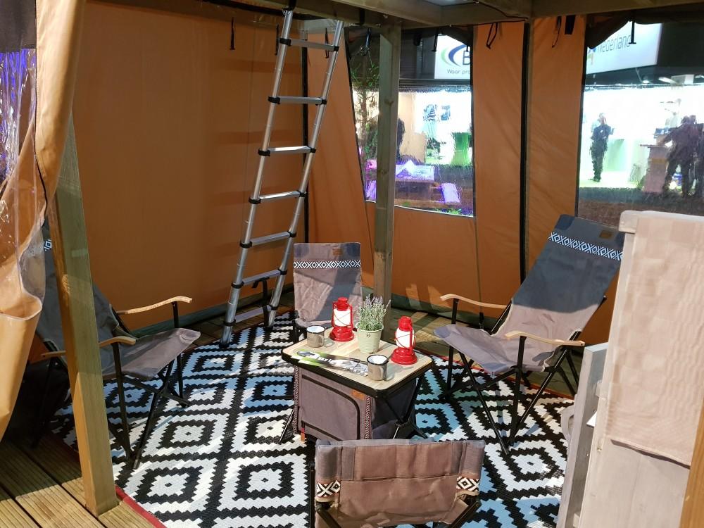 Sky Lodge / Skylodge Drenthse Roos Drenthe Camping Tent ingericht